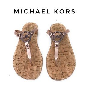 Michael Kors jelly flip flop cork bottom shoes 6 7